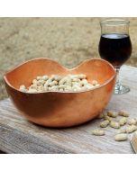 """Teak bowl """"Adagio"""" Ø 25cm copper leaf"""