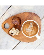 Teak coffee cup server 'Chili' (set of 2)