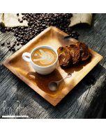 Teak coffee tray 'Brazil' square small