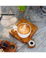 "Teak coffee cup server ""Shallot"" (set of 2)"