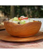 awesome and unique teak wooden bowl Adagio 25 cm