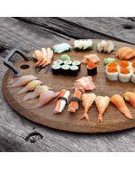 Oak wooden serving platter by Rico & Plato