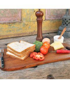 sublime and unique teak wooden serving board