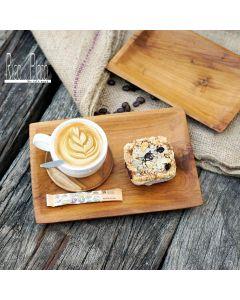 Teak coffee tray 'Brazil' recta set I Rico & Plato