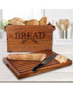 """Breadbox in mindi wood """" Bread Pit"""""""