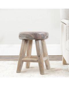 unique teak wood stool for bathroom or inetrior