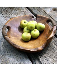 Teak bowl 'Milo' with handles