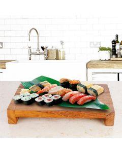 wasabi teak serving platter