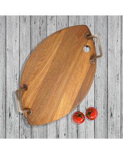 'Minella oval'' Oak serving platter  I Rico & Plato.